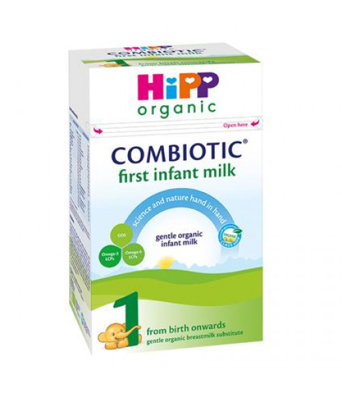 HiPP Stage 1 Combiotic First Infant Milk Formula With DHA (800g) - UK Version 0+